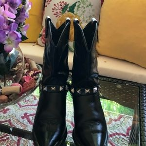 Capezio Studded Bling Embroidered Western Booties